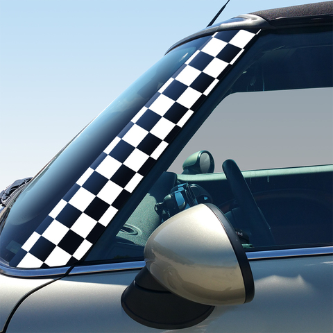 Checkers Pillar Decals for 2nd Generation Hardtop and Convertible MINI Cooper - Set of 2 Product Page