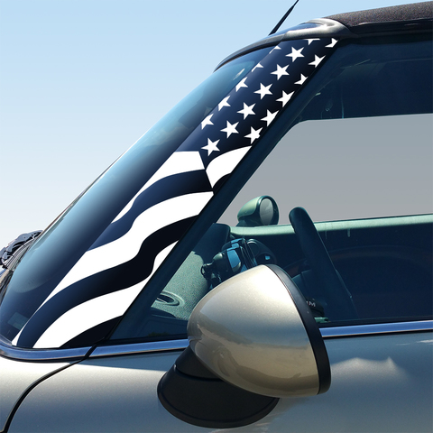 US Flag Pillar Decals for 2nd Generation Hardtop and Convertible MINI Cooper - Set of 2 Product Page