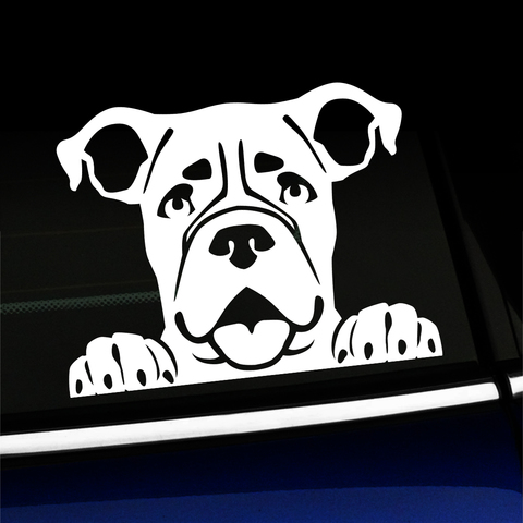 Peeking Boxer - Vinyl Decal Product Page