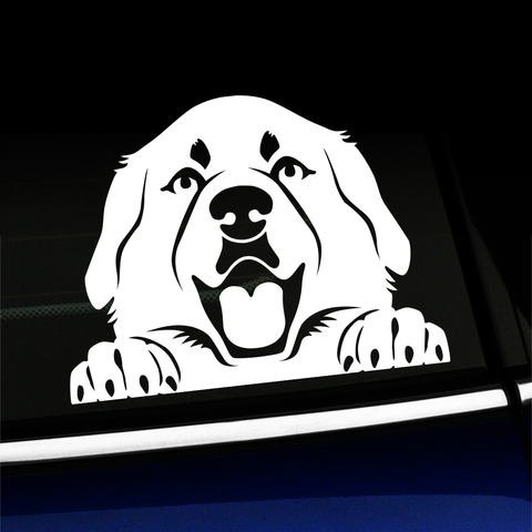 Peeking Great Pyrenees - Vinyl Decal Product Page