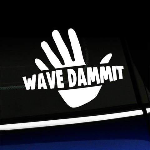 Wave Dammit - Decal Product Page