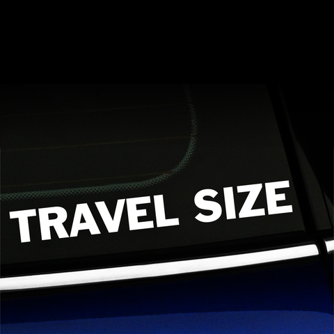 Travel Size - Decal Product Page