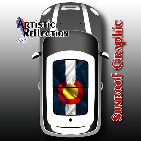 Colorado Flag Sunroof Graphic for MINI Cooper  Product Page