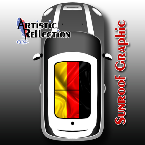 German Flag Sunroof Graphic for MINI Cooper  Product Page