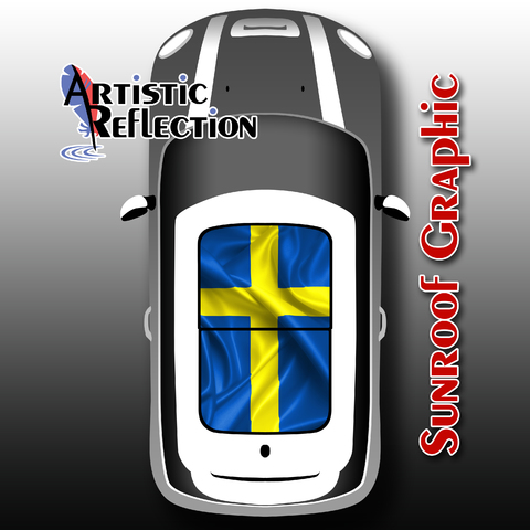 Swedish Flag Sunroof Graphic for MINI Cooper  Product Page