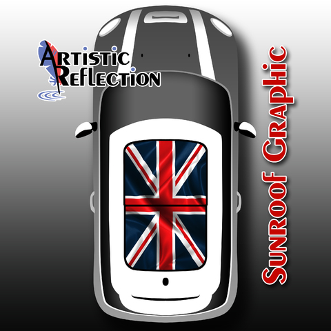 Union Jack Sunroof Graphic for MINI Cooper Product Page