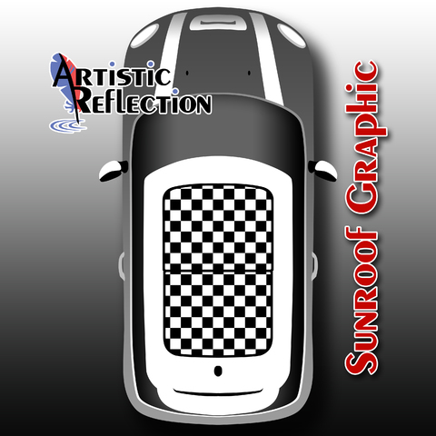 Checkered Sunroof Graphic for MINI Cooper  Product Page