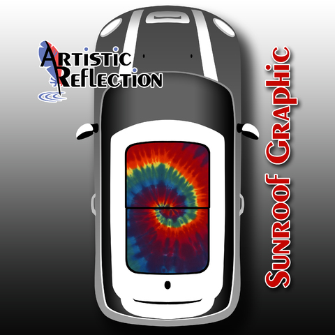 Tie Dye Sunroof Graphic for MINI Cooper Product Page