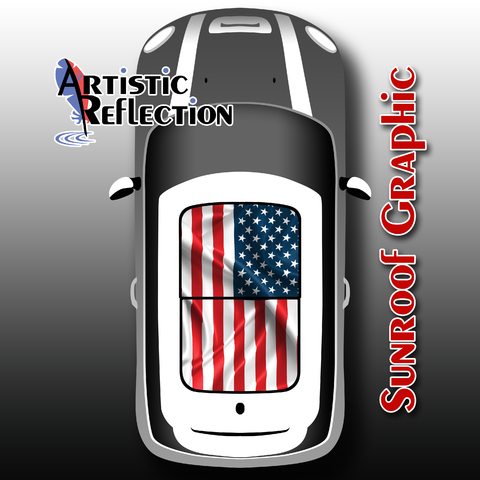 US Flag Sunroof Graphic for MINI Cooper Product Page