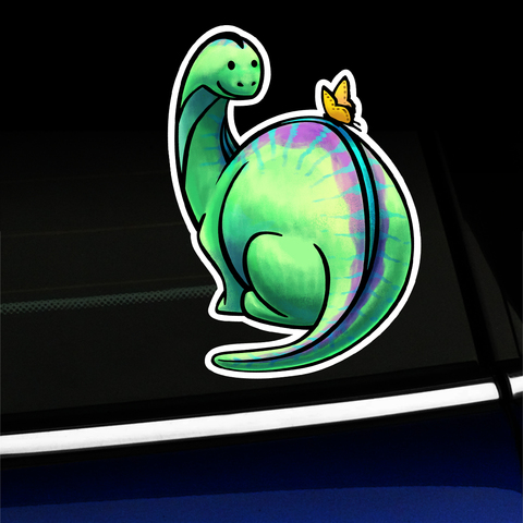 Bronto and Butterfly - Sticker Product Page
