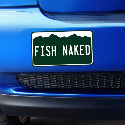 Small Colorado Fish Naked - Bumper Sticker Product Page