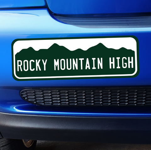Colorado Rocky Mountain High - Bumper Sticker Product Page