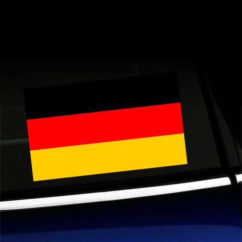 German Flag - Full Color Sticker Product Page