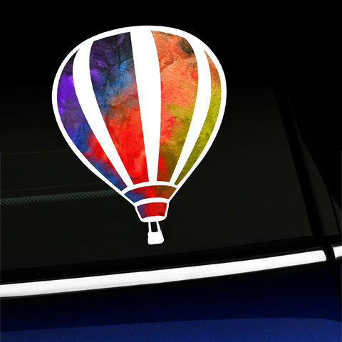 Watercolor Hot Air Balloon - Sticker - Full-color Vinyl Sticker Product Page