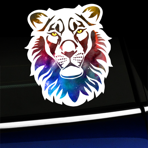 Watercolor Lion - Sticker Product Page
