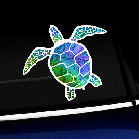 Watercolor Sea Turtle - Sticker - Full-color Vinyl Sticker Product Page