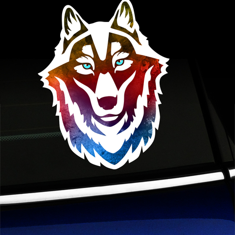 Watercolor Wolf - Sticker Product Page