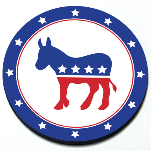 License Plate Holders >> Democratic Party - Grill Badge