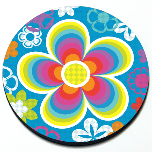 Groovy Flowers - Magnetic Grill Badge for MINI Cooper Product Page