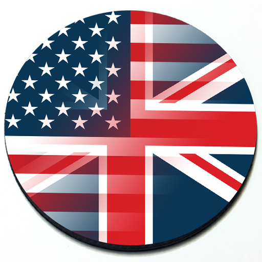 Combined US Flag and UJ Flag Magnetic Grill Badge for MINI Cooper