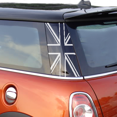 Pillar Decals (R56) Black Jack Rear - 2nd Generation Hardtop MINI Cooper - Set of 2