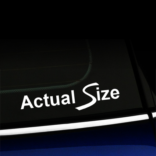 Actual Size - with swooping S for MINI Cooper S - Vinyl Decal