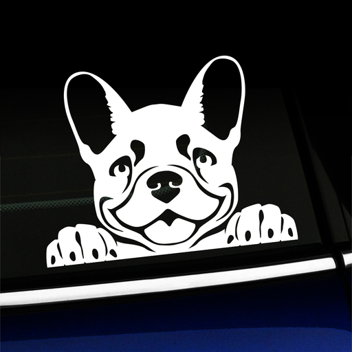Peeking Frenchy - French Bulldog Vinyl Decal Product Page