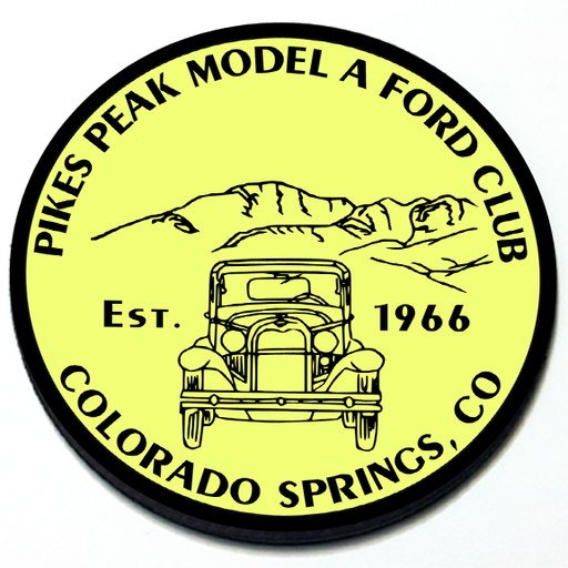 Pikes Peak Model A Ford Club Grill Badge Product Page