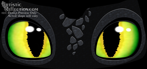 These intense but lovable dragon eyes are sure to get some smiles!  Product Page