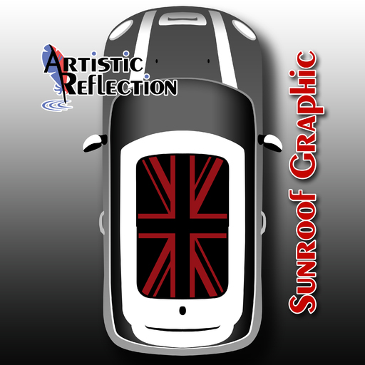 Red Jack Sunroof Graphic For Mini Cooper