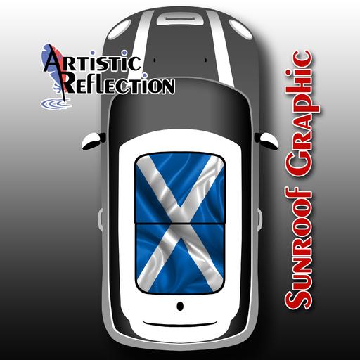 Scotland Flag Sunroof Graphic For Mini Cooper R50 R53
