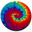 Tie Dye - Magnetic Grill Badge for MINI Cooper thumbnail